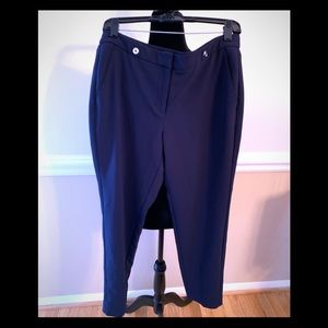 WHBM Navy pants-8 Ankle